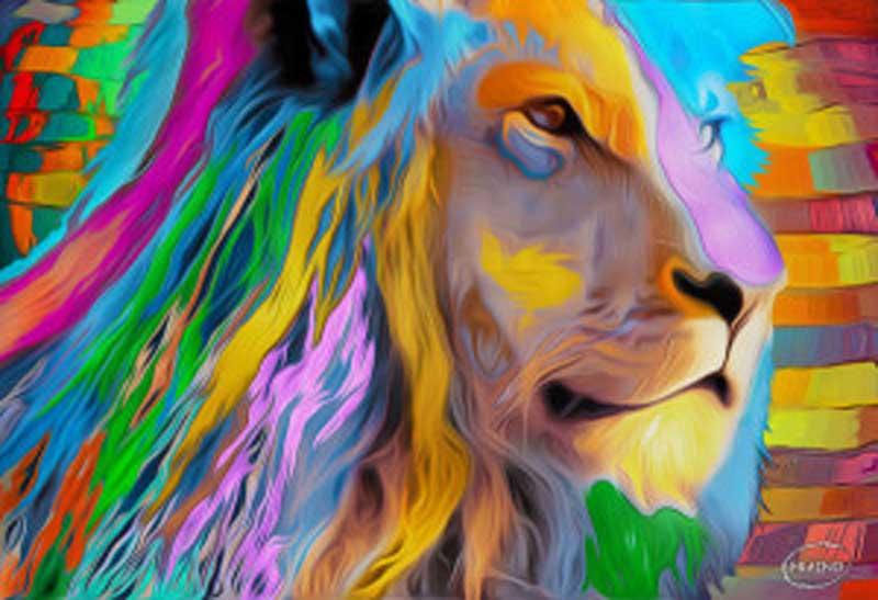 León de colores - Aramis Fraino